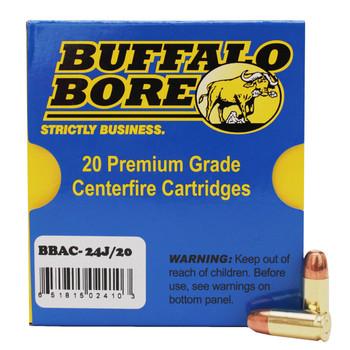 Buffalo Bore Ammunition 9mm Luger Subsonic 147 Grain Full Metal Jacket Flat Nose Low Flash Box of 20, UPC :651815024103