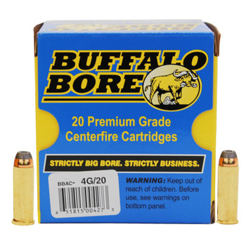Buffalo Bore Ammunition 44 Remington Magnum 240 Grain Jacketed Hollow Point Low Recoil Box of 20, UPC :651815004273