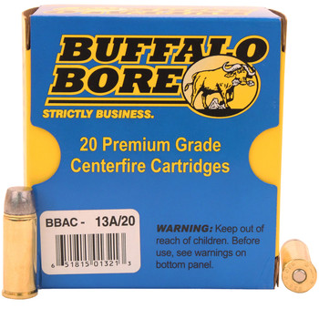 Buffalo Bore Ammunition Outdoorsman 480 Ruger 370 Grain Lead Flat Nose Box of 20, UPC :651815013213