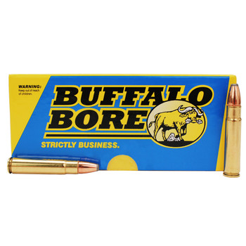 Buffalo Bore Ammunition 35 Remington 220 Grain Jacketed Flat Nose Box of 20, UPC :651815017013