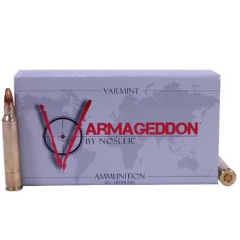 Nosler Varmageddon Ammunition 204 Ruger 32 Grain Hollow Point Flat Base Box of 20, UPC : 054041651103