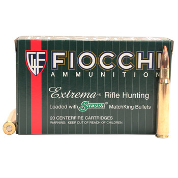 Fiocchi Exacta Ammunition 30-06 Springfield 168 Grain Sierra MatchKing Hollow Point Box of 20, UPC :762344704203
