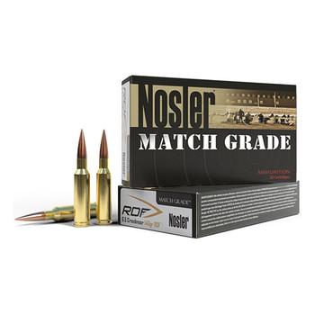 Nosler Match Grade Ammunition 6.5 Creedmoor 140 Grain RDF Hollow Point Boat Tail Box of 20, UPC : 054041601153