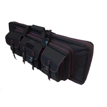 36IN DOUBLE RIFLE CASE - DIVA BLACK/PINK, UPC :616086525643