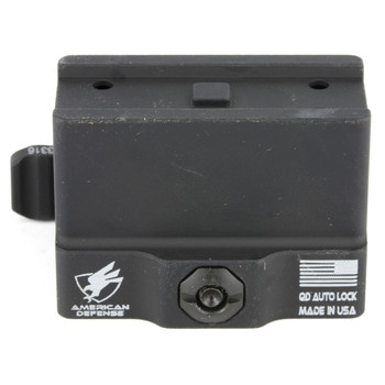 American Defense Mfg. Mount, Fits Aimpoint Micro T-1, Quick Release, Lower 1/3 Co-Witness, Black AD-T1-11, UPC :818503011184