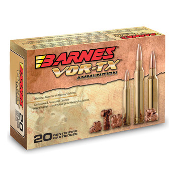 Barnes VOR-TX, 243WIN, 80 Grain, Tipped Triple Shock X, Boat Tail, Lead Free, 20 Round Box 21522, UPC :716876024384