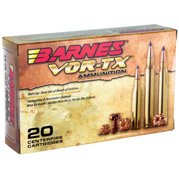 Barnes VOR-TX, 25-06 Rem, 100 Grain, Tipped Triple Shock X, Lead Free, 20 Round Box 21557, UPC :716876125104