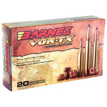 Barnes VOR-TX, 300WIN, 165 Grain, Tipped Triple Shock X, Boat Tail, Lead Free, 20 Round Box 21537, UPC :716876030064