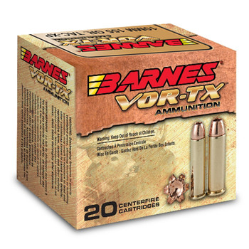 Barnes VOR-TX, 41 Mag, 180 Grain, XPB, Jacketed Hollow Point, Lead Free, 20 Round Box 22037, UPC :716876154104