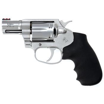 "Colt's Manufacturing Cobra Revolver, 38 Special, 2"" Barrel, Steel Frame, Stainless Finish, 6Rd, Fiber Optic Sights, Hogue Overmolded Grip COBRA-SM2FO, UPC : 098289007094"