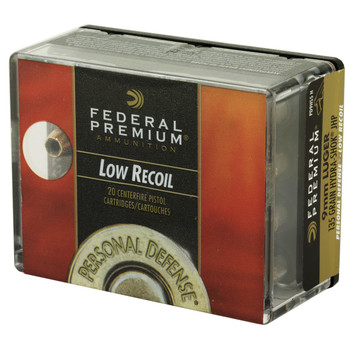 Federal Personal Defense, Hydra-Shok, 9MM, 135 Grain, Jacketed Hollow Point, Low Recoil, 20 Round Box PD9HS5H, UPC : 029465091484