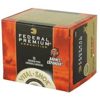 Federal Vital-Shok, 460 S&W, 275 Grain, Barnes Expander, Lead Free, 20 Round Box P460XB1, UPC : 029465099084