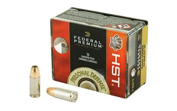 Federal Premium, 9MM, 124 Grain, Jacketed Hollow Point, 20 Round Box P9HST1S, UPC : 029465063924