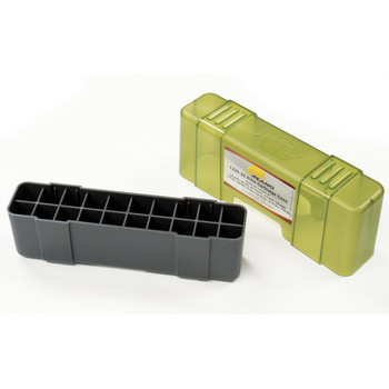 Plano Ammunition Box, Holds 20 Rounds of .220/.243/.257/.270/.300/.308/.444 Rifle Rounds, Charcoal/Green , 6 Pack 1229-20, UPC : 024099122924