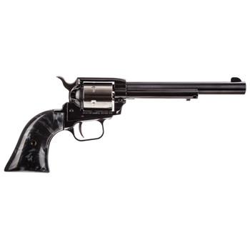 "Heritage Rough Rider, Single Action Revolver, 22LR, 6.5"" Barrel, Alloy Frame, Two-Tone, Black Pearl Grip, 6Rd RR22TT6BLKPRL, UPC :727962702994"