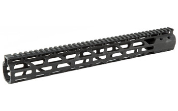 "Advanced Technology 15"" Slim Free Float Forend, Fits AR-15 Variants, M-LOK mounting on Three Sides, All Mounting Hardware Included, Black Finish SHG1500, UPC :758152561404"