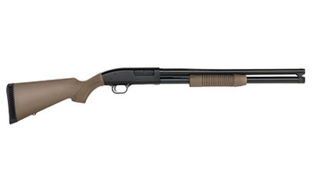 "Mossberg 88 Maverick, Pump Action Shotgun, 12 Gauge, 3"" Chamber, 20"" Barrel, Cylinder Bore, Blued Finish with Flat Dark Earth Synthetic Stock, Bead Sight, 7Rd 31048, UPC : 049533310484"
