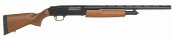 "Mossberg 505 Youth, Pump Action, 20 Gauge, 3"" Chamber, 20"" Vent Rib Barrel, AccuSet, Blue Finish, Wood Stock, Bead Sight, 4Rd 57110, UPC : 015813571104"