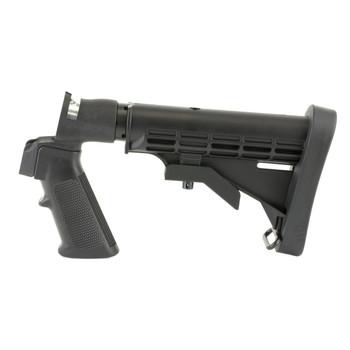 Mossberg Stock, Synthetic, Blk, 6-Pos Adjustable Stock, Flex Series 95219, UPC : 015813952194