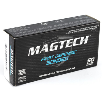 Magtech First Defense Bonded, 9MM 147 Grain, Bonded Hollow Point, 50 Round Box 9BONC, UPC :754908200214