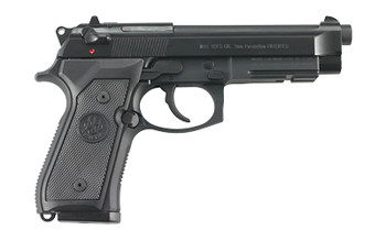 """Beretta M9A1, Double Action, Full Size, 9MM, 4.9"""" Barrel, Alloy Frame, Matte Black Finish, Polymer Grips, 3 Dot Sights, Ambidextrous Safety, 2 Magazines, 15 Rounds JS92M9A1M, UPC : 082442817194"""