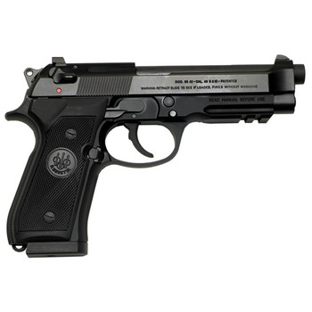 "Beretta 92A1, Double Action, Full Size, 9MM, 4.9"" Barrel, Alloy Frame, Blue Finish, Plastic Grips, 3 Dot Sights, 3 Magazines, 10 Rounds J9A9F11, UPC : 082442111094"