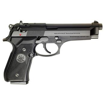 "Beretta 92FS, Double Action Pistol, Full Size, 9MM, 4.9"" Barrel, Alloy Frame, Blue Finish, Plastic Grips, 3 Dot Sights, Ambidextrous Safety, 2 Magazines, 10Rd JS92F300, UPC : 082442027104"
