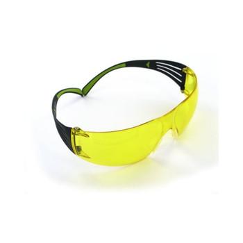 3M/Peltor SecureFit 400, Anti-fog Glasses, Lightweight, Amber, SafetyEyewear SF400-PA-8, UPC : 051141994994