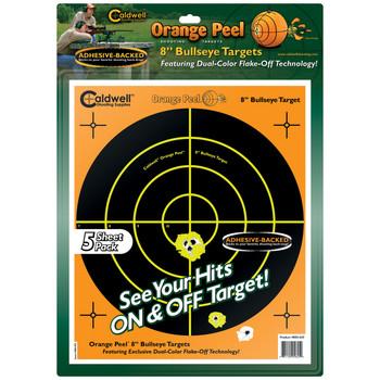Caldwell Orange Peel 8 inch Bulls Eye 5 Sheets UPC: 661120056454
