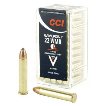 CCI/Speer 22WMR, 40 Grain, GamePoint, 50 Round Box 22, UPC : 076683000224