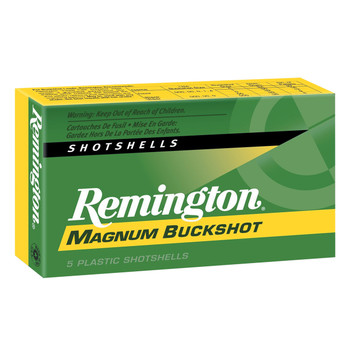 "Remington Express, 12 Gauge, 3.5"", 00 Buck, Max Dram, Buckshot, 18 Pellets, 5 Round Box 20280, UPC : 047700163604"