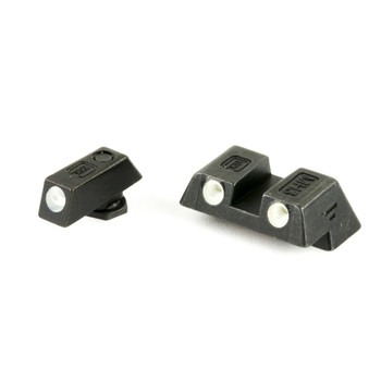 Glock Glock OEM Night Sights, 6.1mm, Fits Glock 42 & 43, Green Dot, Steel 39930, UPC :764503019234