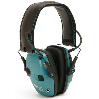 Howard Leight Impact Sport, Electronic Earmuff, Folding, Teal R-02521, UPC : 033552025214