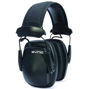 Howard Leight SYNC Earmuff, Black, NRR 25, 3.5mm Audio Connection Cord 1030110, UPC :7312550301104