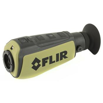 FLIR Scout II 240, 240x180 VOx Microbolometer, 640x480 LCD Display, FLIR Scout Series Thermal Camera, with WhiteHot, BlackHot, and InstAlert, FLIR Digital Enhancement, Embedded LED Tasklight, Rechargeable Li-Ion Internal Battery, USB Charging Cable,