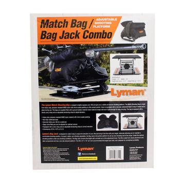 Lyman Universal Bag Rest and Bag Jack, Filled, Black, Standard Size 7837815, UPC : 011516778154
