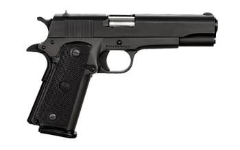 "Armscor Rock Island 1911, Full Size Pistol, 45 ACP, 5"" Barrel, Steel Frame, Blue Finish, Synthetic Grips, Fixed Sights, 1 Magazine, 10 Rounds 51453, UPC :4806015514534"