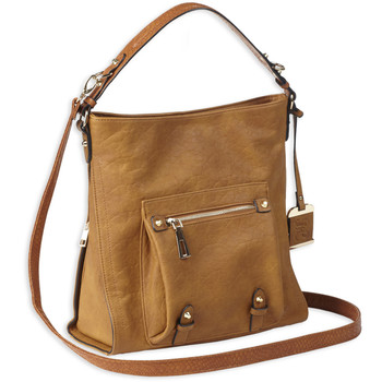 82b40617ba Bulldog Cases Hobo Anna Purse Holster, Fits Most Small Autos, Leather,  Cognac Brown BDP-054, UPC :672352011494