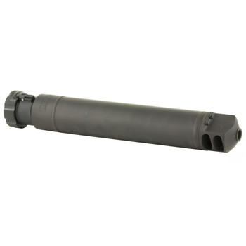"""Barrett QDL Rifle Suppressor, .50 BMG, 17.11"""" Long, Adds 12.73"""" in Length, 2.5"""" Diameter, 4.88 Pounds, 23dB Reduction, Quick Detach 1/4 Turn Lock Ring Mount, Made from 4130 Steel 12774, UPC :816715010674"""