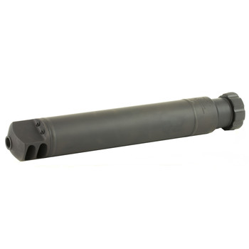 "Barrett QDL Rifle Suppressor, .50 BMG, 17.11"" Long, Adds 12.73"" in Length, 2.5"" Diameter, 4.88 Pounds, 23dB Reduction, Quick Detach 1/4 Turn Lock Ring Mount, Made from 4130 Steel 12774, UPC :816715010674"
