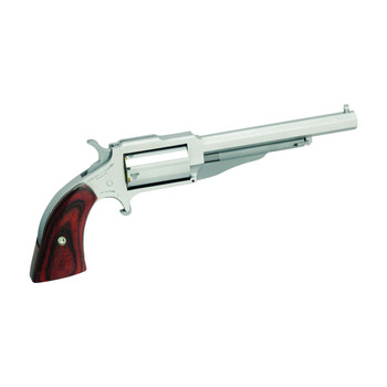 """North American Arms The Earl 1860, Single Action, 22LR/22WMR, 4"""" Barrel, Steel Frame, Stainless Finish, Wood Grips, Fixed Sights, 5Rd NAA-1860-4C, UPC :744253001994"""