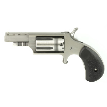 "North American Arms The Wasp, Single Action, 22LR/22WMR, 1.625"" Barrel, Steel Frame, Stainless Finish, Rubber Grips, Fixed Sights, 5Rd NAA-22MC-TW, UPC :744253002304"