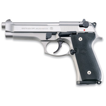 """Beretta 92FS, Semi-Aautomatic, 9MM, 4.9"""" Barrel, Alloy Frame, Stainless Finish, 2 Magazines, 10 Rounds JS92F520, UPC : 082442868844"""