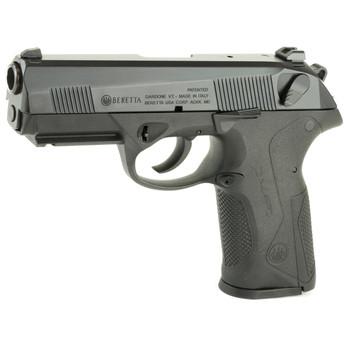 "Beretta PX4 Storm, Semi-automatic, Double Action, Full Size Pistol, 45 ACP, 4.1"" Barrel, Polymer Frame, Black Finish, 9Rd & 10Rd, 2 Mags, Picatinny Rail, Ambidextrous, 3 Dot Sights JXF5F25, UPC : 082442819754"