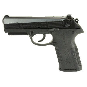 "Beretta PX4 Storm, Semi-automatic, Double Action, Full Size Pistol, 45 ACP, 4.1"" Barrel, Polymer Frame, Black Finish, 9Rd & 10Rd, 2 Mags, Picatinny Rail, Ambidextrous, 3 Dot Sights JXF5F25, UPC : 082442819754"