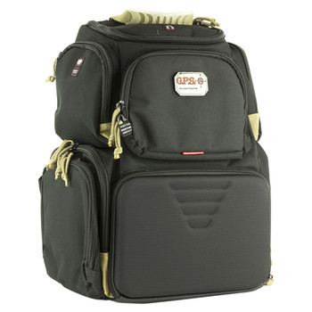G-Outdoors, Inc. Handgunner, Backpack, Black/Tan, Soft GPS-1711BPBT, UPC :819763010924