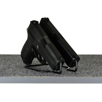 Gun Storage Solutions Handgun Hangers, Duelies Vinyl Coated, Fits Guns As Small As .22 Caliber, 2 Per Stand, Black DUEL2, UPC :856691002294