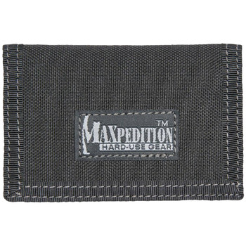 "Maxpedition MICRO Wallet, Soft, 4.5""x3"", ID Window, 2 Internal Card Compartment, 1 External Slip Compartment, Black Finish 0218B, UPC :846909001744"