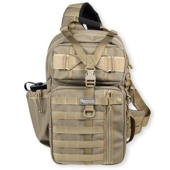 "Maxpedition Gearslinger Kodiak Backpack, 17""X10""X4"", Khaki 0432K, UPC :846909004844"