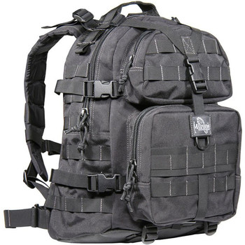 "Maxpedition Condor II Backpack, 17.5""X14""X6.5"", Black 0512B, UPC :846909001584"